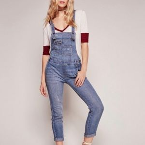 Free People Adjustable Criss Cross Straps Overalls